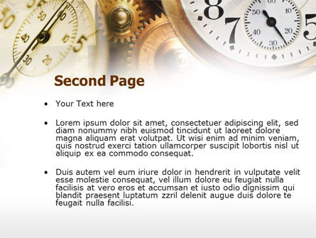 Clock Mechanism PowerPoint Template, Slide 2, 00603, Business Concepts — PoweredTemplate.com
