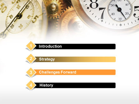 Clock Mechanism PowerPoint Template Slide 3