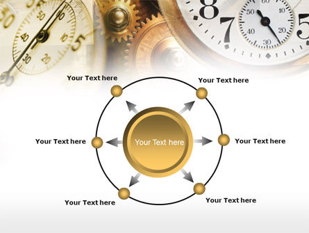 Clock Mechanism PowerPoint Template Slide 7