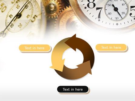 Clock Mechanism PowerPoint Template Slide 9