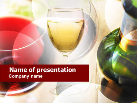 White Wine Degustation PowerPoint Template, 00605, Food & Beverage — PoweredTemplate.com