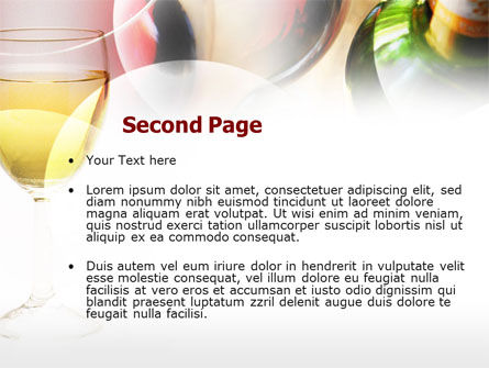 White Wine Degustation PowerPoint Template, Slide 2, 00605, Food & Beverage — PoweredTemplate.com