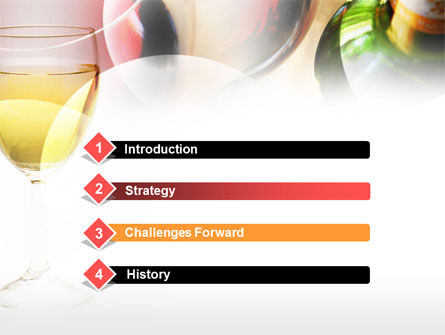 White Wine Degustation PowerPoint Template, Slide 3, 00605, Food & Beverage — PoweredTemplate.com