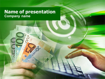 Financial/Accounting: Making Money Online PowerPoint Template #00606