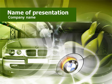 Cars and Transportation: Luxury Sedan PowerPoint Template #00607