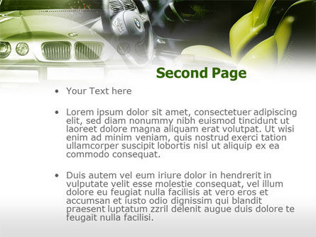 Luxury Sedan PowerPoint Template Slide 2