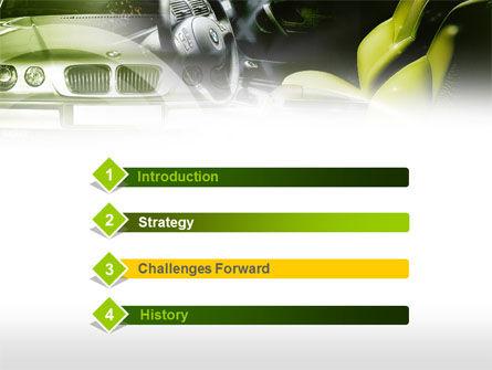 Luxury Sedan PowerPoint Template, Slide 3, 00607, Cars and Transportation — PoweredTemplate.com