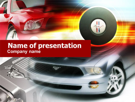 Cars and Transportation: Plantilla de PowerPoint - muscle car #00608