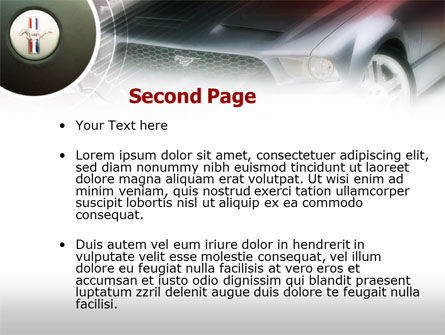 Muscle Car PowerPoint Template, Slide 2, 00608, Cars and Transportation — PoweredTemplate.com