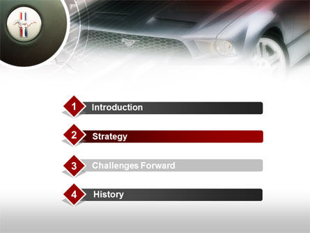 Muscle Car PowerPoint Template, Slide 3, 00608, Cars and Transportation — PoweredTemplate.com