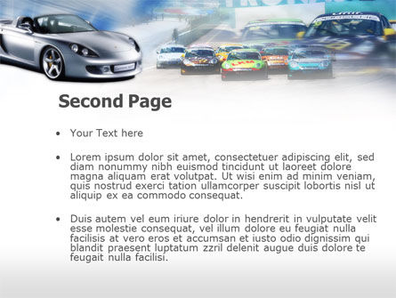 Sports Car Races PowerPoint Template, Slide 2, 00610, Cars and Transportation — PoweredTemplate.com