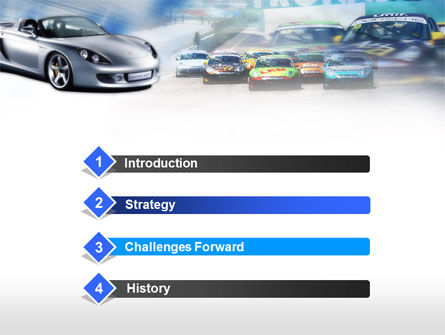 Sports Car Races PowerPoint Template, Slide 3, 00610, Cars and Transportation — PoweredTemplate.com