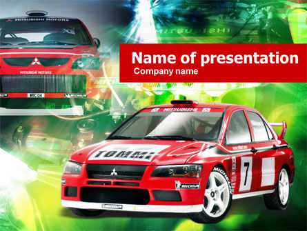 Sports: Plantilla de PowerPoint - coche de rally #00611