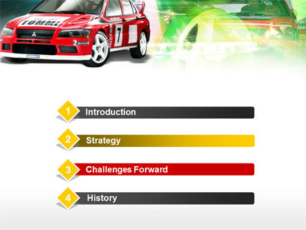 Rally Car PowerPoint Template, Slide 3, 00611, Sports — PoweredTemplate.com