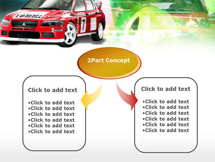 Rally Car PowerPoint Template, Slide 4, 00611, Sports — PoweredTemplate.com