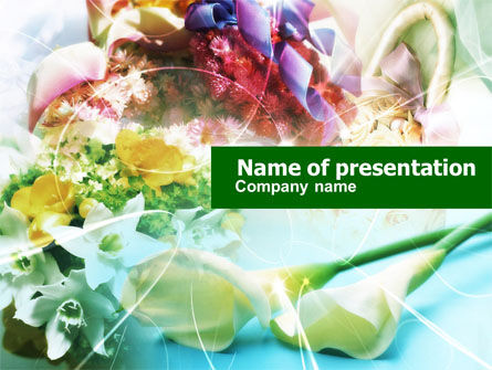 Holiday/Special Occasion: Flower Arranging Ideas PowerPoint Template #00612