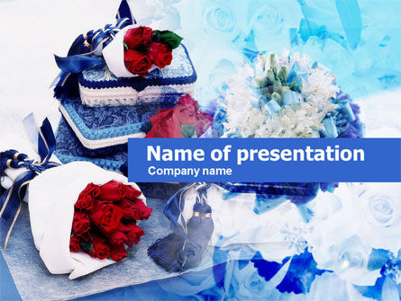 Holiday/Special Occasion: Flower Arrangement PowerPoint Template #00613