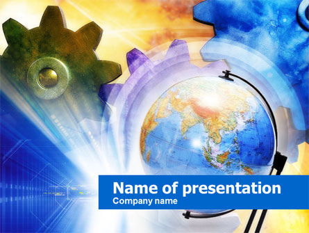 Global Gears PowerPoint Template