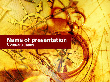Ancient Compass PowerPoint Template, 00620, Education & Training — PoweredTemplate.com