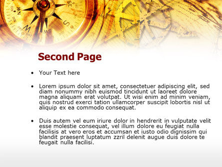 Ancient Compass PowerPoint Template, Slide 2, 00620, Education & Training — PoweredTemplate.com