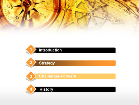 Ancient Compass PowerPoint Template, Slide 3, 00620, Education & Training — PoweredTemplate.com