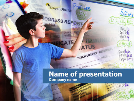Advances in School PowerPoint Template, 00626, Education & Training — PoweredTemplate.com