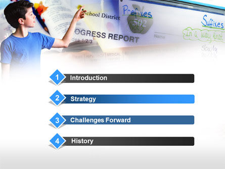 Advances in School PowerPoint Template, Slide 3, 00626, Education & Training — PoweredTemplate.com