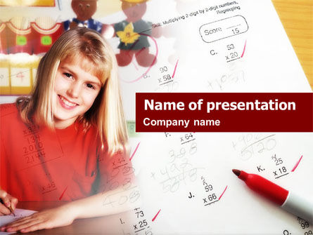 Education & Training: School Tests Results PowerPoint Template #00627