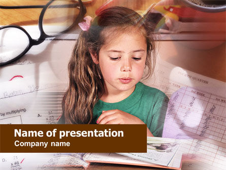 Education & Training: Teaching Visually Impaired Children PowerPoint Template #00628