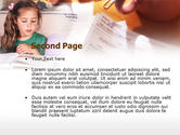 Teaching Visually Impaired Children PowerPoint Template#2