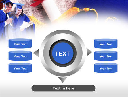 Graduator Students with Diploma PowerPoint Template Slide 12