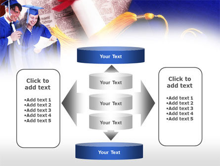 Graduator Students with Diploma PowerPoint Template Slide 13