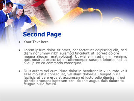 Graduator Students with Diploma PowerPoint Template, Slide 2, 00629, Education & Training — PoweredTemplate.com