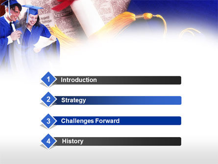 Graduator Students with Diploma PowerPoint Template, Slide 3, 00629, Education & Training — PoweredTemplate.com