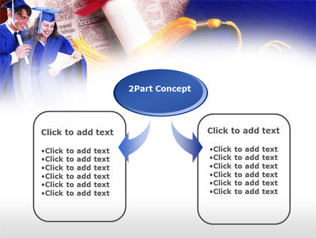Graduator Students with Diploma PowerPoint Template, Slide 4, 00629, Education & Training — PoweredTemplate.com