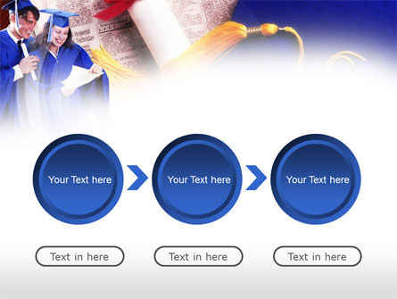 Graduator Students with Diploma PowerPoint Template Slide 5