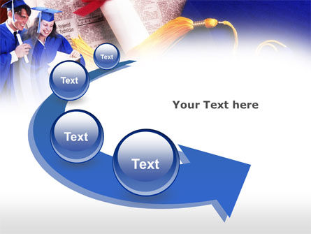 Graduator Students with Diploma PowerPoint Template Slide 6