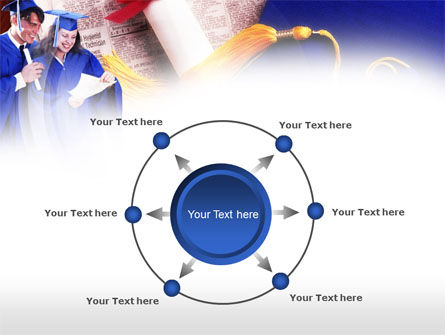 Graduator Students with Diploma PowerPoint Template Slide 7