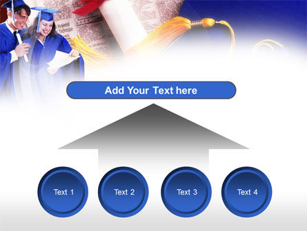 Graduator Students with Diploma PowerPoint Template Slide 8