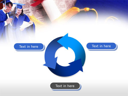Graduator Students with Diploma PowerPoint Template Slide 9