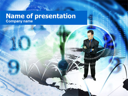 Business Concepts: Global Zakelijke Gesprekken PowerPoint Template #00631