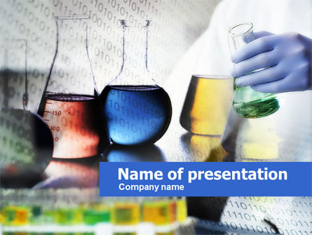 Colored Retorts PowerPoint Template, 00632, Technology and Science — PoweredTemplate.com