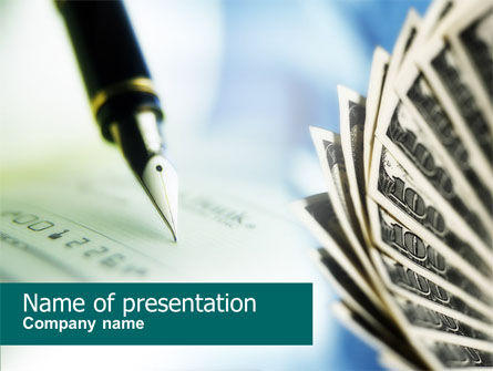 Signing of Check PowerPoint Template