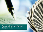 Financial/Accounting: Signing of Check PowerPoint Template #00634