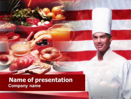 Food & Beverage: Chef PowerPoint Template #00635