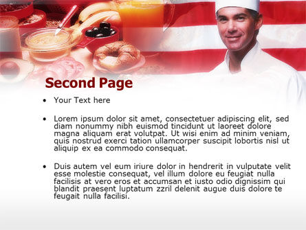 Chef PowerPoint Template, Slide 2, 00635, Food & Beverage — PoweredTemplate.com