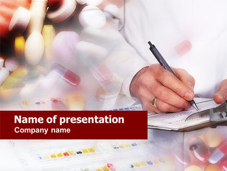 Medical: Templat PowerPoint Resep Obat #00639