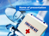 Medical: First Aid Kit PowerPoint Template #00640