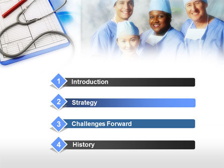 Surgical Team PowerPoint Template, Slide 3, 00641, Medical — PoweredTemplate.com