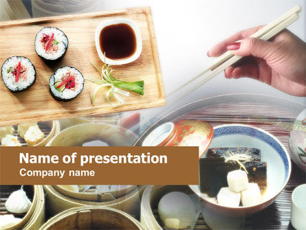 Sushi PowerPoint Template, 00643, Food & Beverage — PoweredTemplate.com